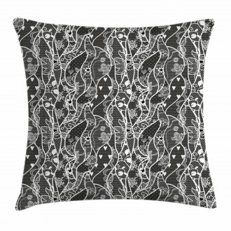 Vintage Roses Hearts Pillow Cover