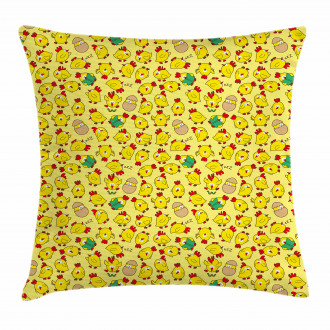 Cute Poultry Hatching Pillow Cover