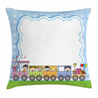 Train Cute Children Pillow Cover