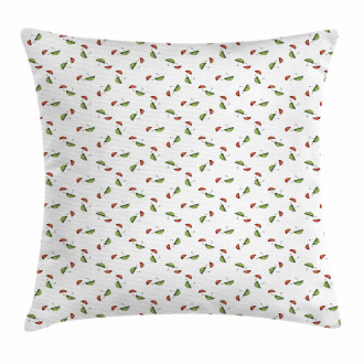 Red and Green in Pairs Pillow Cover