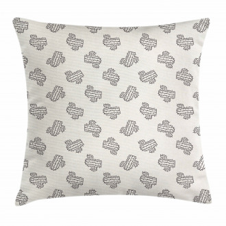 Doodle Exotic Plant Pillow Cover