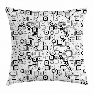 Squares Circles Pillow Cover