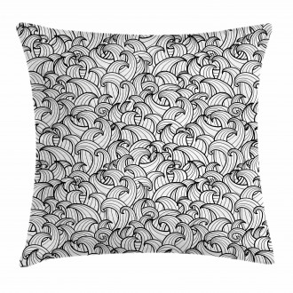 Sea Storm Waves Pillow Cover