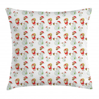 Sweet Noel Characters Pillow Cover