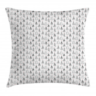 Doodle Sketch Style Stars Pillow Cover