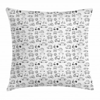 Transportation Sketch Art Pillow Cover