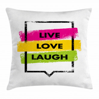 Colorful Saying Pillow Cover