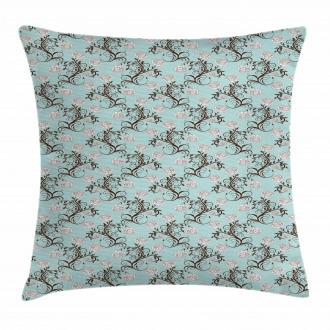 Vintage Floral Stalks Pillow Cover
