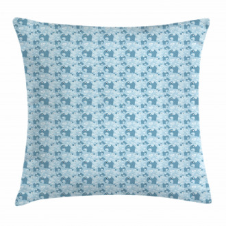Elephants Lines Hearts Pillow Cover
