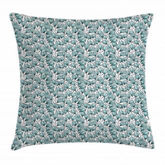 Doodle Garden Plants Pillow Cover