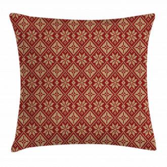 Bicolor Winter Design Pillow Cover