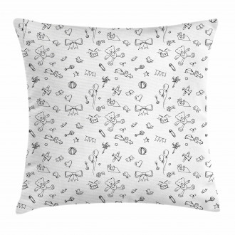 Baby Icons Doodle Toys Pillow Cover