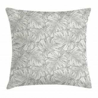 Rainforest Giant Leaves Pillow Cover