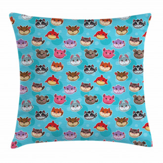 Cute Cartoon Style Animals Pillow Cover