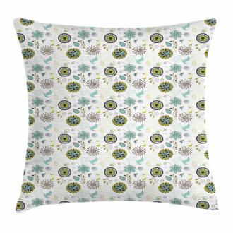 Bird and Butterflies Pillow Cover