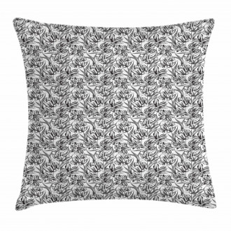 Leaves Illustration Pillow Cover