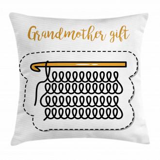 Vintage Knitting Design Pillow Cover