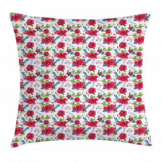 Romantic Blueberries Pillow Cover