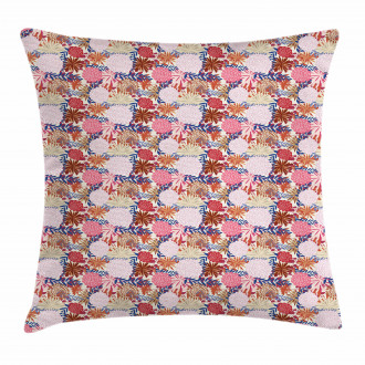 Abstract Bloom Design Pillow Cover