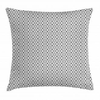 Monochrome Foliage Pillow Cover
