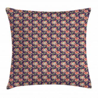 Oriental Colorful Flora Pillow Cover