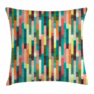 Colorful Grunge Stripes Pillow Cover