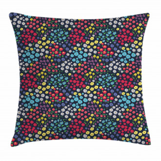 Colorful Spring Blossoms Pillow Cover