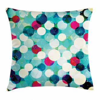 Worn Out Retro Rhombus Pillow Cover