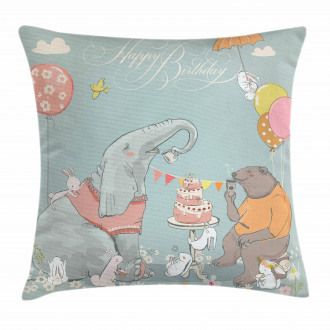Elephant Hares Pillow Cover