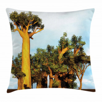 Tropical African Baobabs Pillow Cover