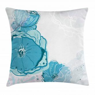 Blue Spring Blossoms Pillow Cover