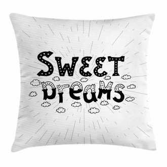 Retro Quote Clouds Pillow Cover