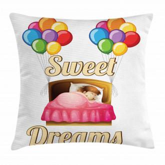 Cartoon Girl Night Pillow Cover