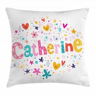 Colorful Alphabet Pillow Cover