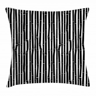Black and White Stems Pillow Cover