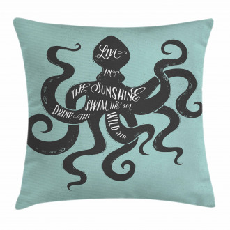 Inspiration Message Graphic Pillow Cover