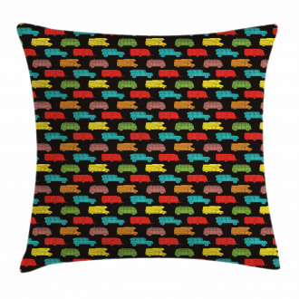 Colorful Van Bus Trailer Pillow Cover