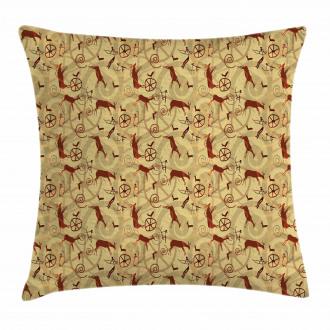 Prehistoric Art Pillow Cover