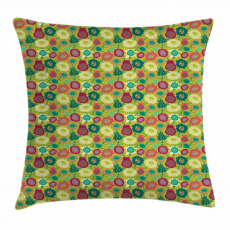 Whimsical Floral Art Pillow Cover