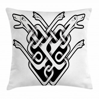Old Style Icon Dog Heads Pillow Cover