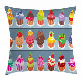 Multilayered Muffin Pillow Cover