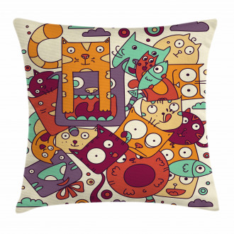 Absurd Doodle Pillow Cover