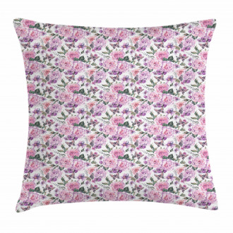 Swallowtails and Roses Pillow Cover