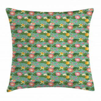 Vivid Color Hibiscus Pillow Cover