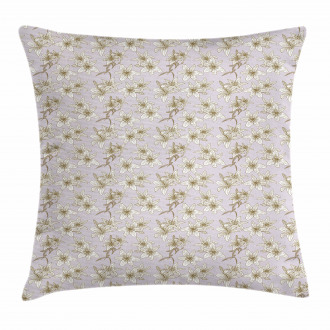 Freesia Flower Print Pillow Cover