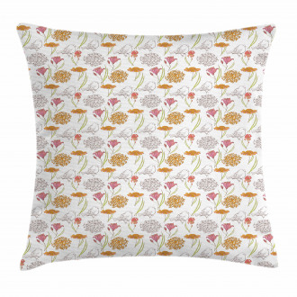 Spring Themed Foliage Pillow Cover