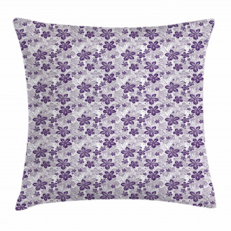 Stylized Petals Curves Pillow Cover