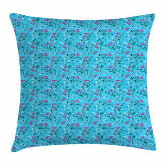 Wavy Stems and Branches Pillow Cover