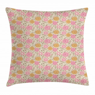 Geometric Lines Curves Pillow Cover