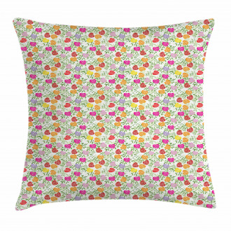Heart Shape Rose Petals Pillow Cover
